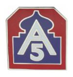 5th Army Pin