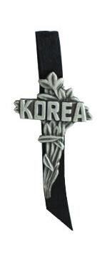 Korea Cross with Ribbon Pin