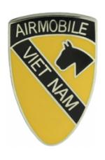 1st Cavalry Division Air Mobile Vietnam Pin