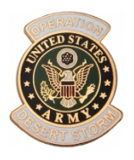 Operation Desert Storm Army Pin