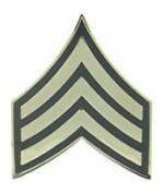 Army Sergeant E-5 Pin (Gold on Green)