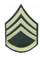 Army Staff Sergeant E-6 Pin (Gold on Green)