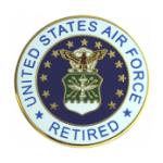 Air Force Retired with Crest