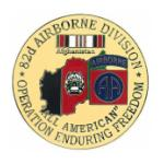 Operation Enduring Freedom 82nd Airborne Division Pin