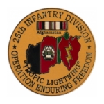 Operation Enduring Freedom 25th Infantry Division Pin