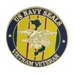 US Navy Seals Vietnam Veteran Pin