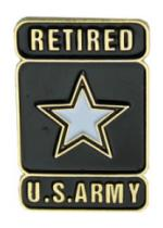 Army Retired Pin