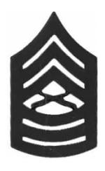 Marine Corps Master Sergeant (Metal Chevron) (Subdued)