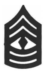Marine Corps First Sergeant (Metal Chevron) (Subdued)