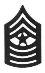 Marine Corps Sergeant Major (Metal Chevron) (Subdued)