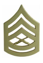 Marine Corps Gunnery Sergeant (Metal Chevron) (Dress)