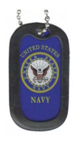 US Navy Dog Tag with Seal