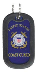 Coast Guard Dog Tags