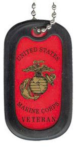 US Marine Corps Veteran Dog Tag with Globe and Anchor