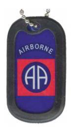 US Army 82nd Airborne Dog Tag
