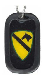 US Army 1st Cavalry Division Dog Tag