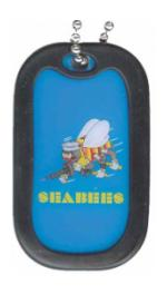 US Navy Seabees Dog Tag with Logo