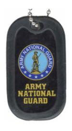 US Army National Guard Dog Tag