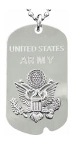 Army Dog Tag/Keychain