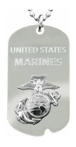 USMC Dog Tag/Key Chain