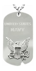 US Navy Dog Tag/Key Chain