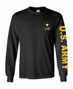 US Army Long Sleeve Tee Shirt (Black)