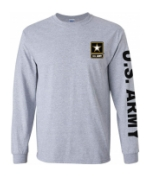 US Army Long Sleeve Tee Shirt (Sport Grey)