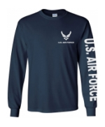 US Air Force Long Sleeve Tee Shirt (Navy Blue)