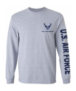 US Air Force Long Sleeve Tee Shirt (Sport Grey)
