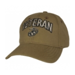 Marine Corps Veteran Cap with EGA (Coyote Brown)