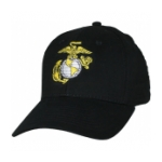Marine Corps Eagle Globe and Anchor Cap (Black)