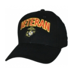 Marine Corps Veteran Cap with EGA (Black)
