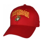 Marine Corps Veteran Cap with EGA (Red)