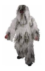 5 Piece Adult Ghillie Suit - Snow