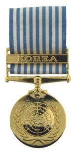 United Nations Korean Service Anodized Medal (Full Size)