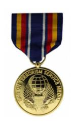 Global War on Terrorism Service Anodized Medal (Full Size)