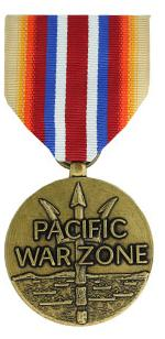 Merchant Marine Pacific War Zone Medal (Full Size)