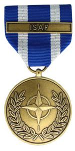 Nato Non Article 5 Afghanistan Assist Medal with ISAF bar (Full Size)