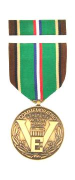 European-African-Middle Eastern WW II Victory Commemorative Medal & Ribbon