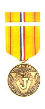 Asiatic Pacific Victory Commemorative Medal & Ribbon Cased
