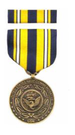 US Navy Commemorative Medal & Ribbon Cased