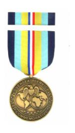 Overseas Service Commemorative Medal & Ribbon Cased