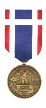 American Defense Service Commemorative Medal & Ribbon Cased