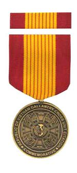 Republic of Vietnam Gallantry Cross Unit Citation Commemorative Medal & Rib