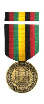 Liberation of Afghanistan Commemorative Medal & Ribbon Cased