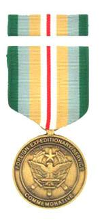 Foreign Expeditionary Service Commemorative Medal & Ribbon Cased