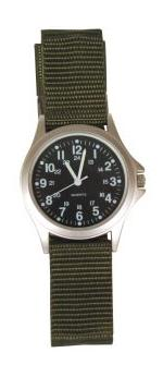 Military Field 24 Hour Watch (Olive Drab with Black Face)