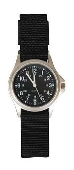 Military Field 24 Hour Watch (Black Strap with Black Face)