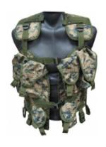 Tactical Assault Vest (Woodland Digital)