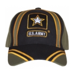 Army Star Cap (O.D. / Black / Gold)